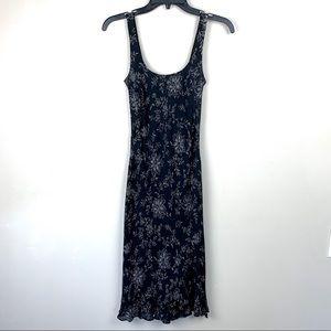 Ann Taylor 100% Silk Black Midi
